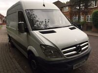 2009 MERCEDES SPRINTER MWB.1 OWNER.BRILLIANT DRIVE.BRAND NEW 1 YEAR MOT. E/W. CENTRAL LOCKING.