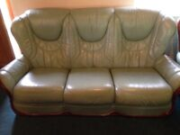 Leather Sofa & Matching Chairs