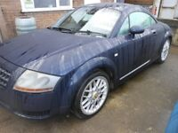 AUDI TT Quatro Coupe (225 BPH) 1.8 Petrol, Full Service History Stamped by Audi. Leather Interior.