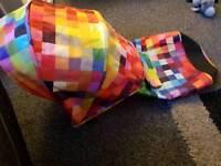 Brand-new cosatto fly pixelate fabrics