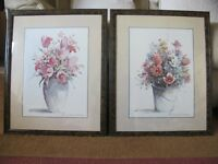 Two prints of flowers