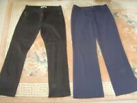 LADIES BLACK JEANS& NAVY TROUSERS,SIZE 14 - £1 EACH