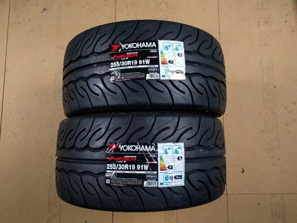 2 x yokohama advan neova ad08r 255 30 r19 91w tyres brand. Black Bedroom Furniture Sets. Home Design Ideas