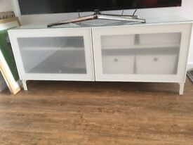 Modern White IKEA TV Unit as new.