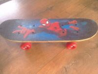 Spiderman skateboard and protection pack