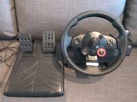 Logitech Driving Force GT gaming steering wheel and pedals