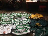 Job lot of 8 Celtic 1irish football tops
