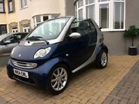 Smart city 0.6 convertible ,auto low miles,fsh