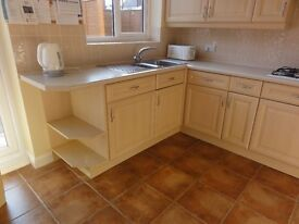 Kitchen for sale: good condition including hob,double oven,sink,mixer tap,worktops,cornices,pelmets