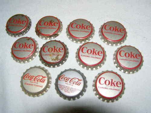 Lot of 11 Unused Vintage Coca Cola Coke Crown Bottle Caps (Bag 11)
