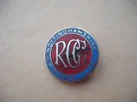 Nottinghamshire Pioneer Club RCC badge