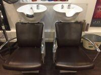 Dark brown salon furniture for sale