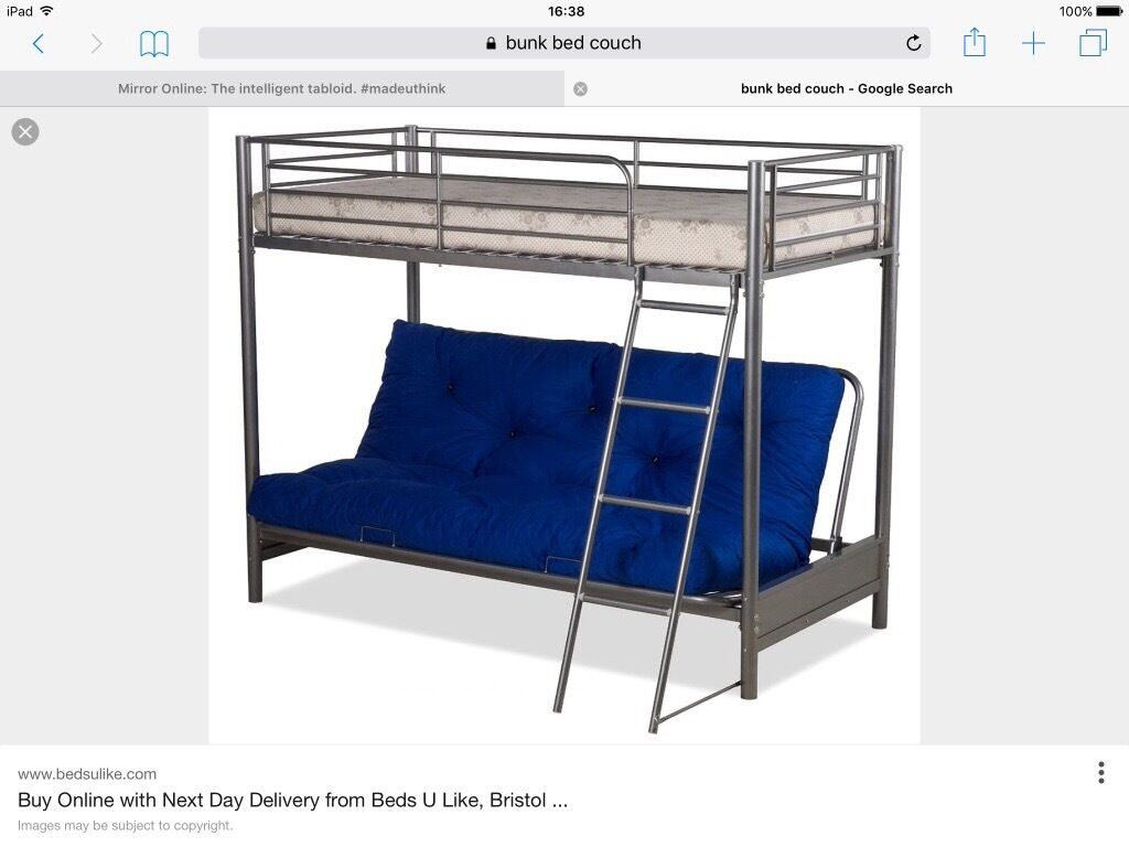 Bunk Bed Top Single Bottom Couch And Double Bed Frame In Norris
