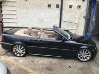 BMW 330 CONVERTIBLE E46 SERVICE HISTORY LOW MILEAGE 50K