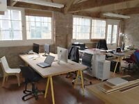 Looking for affordable deskspace? 3-4 desks available in creative office, Bethnal Green