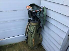 Golf Bag and 8 Clubs Ping Meridan BELATA