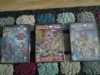 3x new monster high dvds £1