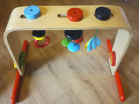 Multifunctional wooden hanging toy - great for over baby's changemat