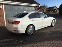 BMW 320d Luxury M Sport Engine, bi turbo, 184bhp, White, full leather immaculate condition