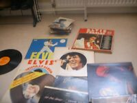 ASSORTED ELVIS ALBUMS PLUS MANY MORE.