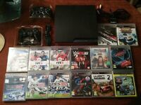Playstation3 Slim 320gb - 14 Games + Extra Controller + PS2 and 6 Games +8mb card - Collect Only