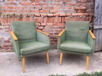 PAIR ARM CHAIRS Cocktail Vintage MID-CENTURY German 1950s Iconic Furniture Seats