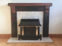 Jarabosky Britannia fireplace surround, mantel, hearth and back plate