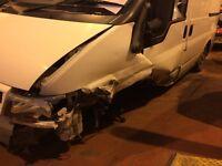 Crash damage transit 80,000miles