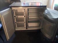 Undercounted Zanissi Fridge Freezer