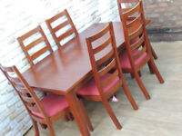 Extendable dining table Multiyork Pandora with chairs (Delivery)