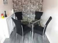 Glass Table & Chairs
