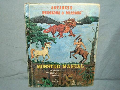 AD&D 1st Ed Hardback -  MONSTER MANUAL  (RARE with ORIGINAL TSR LIZARD LOGO!!)