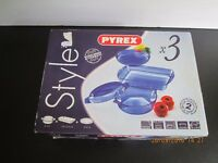 3 PIECE PYREX OVENPROOF/MICROWAVE SET BRAND NEW