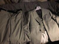 Light grey 3 piece tailored suit