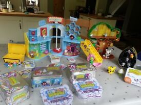 Moshi Monster collection - including treehouse and shopping mall