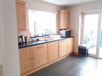 13 Used B&Q Chilton Beech kitchen units for sale + sink & hob - collection in July £400 ONO