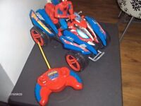 spidrman remote control quad with figuire rideing vgc.