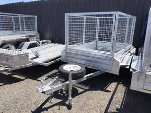 Brand New Galvanised 6x4 Cage Box Trailer 900mm Cage Height Rego Cabramatta Fairfield Area Preview