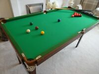 Pot Black Snooker & Pool Table with Table Tennis Table Top