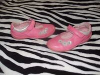 Startrite Pink Real Leather Girls Shoes 9.5F