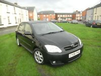 TOYOTA COROLLA 1.6 VVTI COLOUR COLLECTION 06 REG 1 OWNER BLACK 5 DOOR FSH