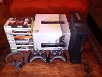 Xbox 360 Elite 120gb + 2 Controllers + 1 Headset + 18 Games - £150 ono