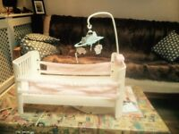 Baby annabelle cot and hanging mobile