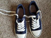 Next navy converse trainers size 4 EU37