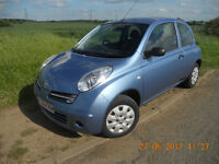 NISSAN MICRA 1240S, 2006, 3 DOOR AUTO, 1 PREVIOUS OWNER, ONLY 18,000 GENUINE MILES