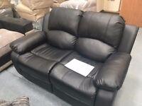 EX-Display - Cambridge Leather 2 Seater - Black