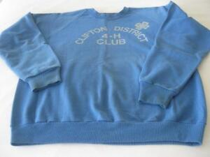 CLIFTON DISTRICT 4-H CLUB BLUE Roomy SWEAT SHIRT...SIZE X-LARGE