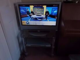 """Sony Bravia tv 26"""" screen, dvd player,stand, remote controls, freeview aerial."""