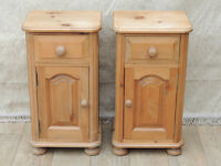 2 Pine bedside cabinets (Delivery)
