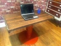 BEAUTIFUL HANDMADE DESK / TABLE - CAN DELIVER - RUSTIC RECLAIMED WOOD